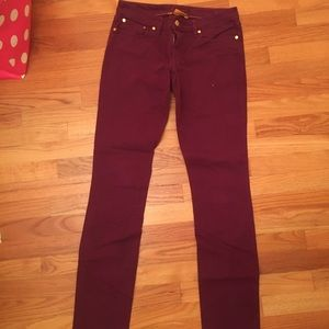 Tory Burch Purple Skinny Jeans